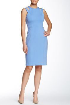 Shoulder Cutout Sheath Dress by Maggy London on @nordstrom_rack