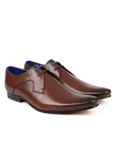 Leather derby shoe - Brown | Shoes | Ted Baker