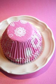 Pink and White Snowflake Designs Cupcake Liners (50). $3.00, via Etsy.