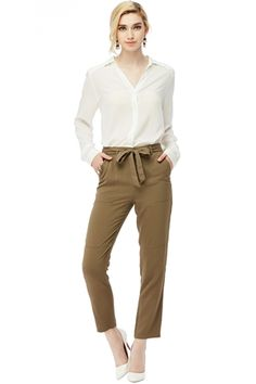 950ff0c65bbd Discover Naked Zebra · TIE BELT PANTS W  POCKETS Trousers
