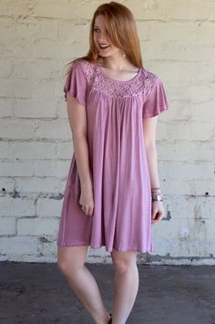 Mauve Mineral Wash Dress #iHeartDSP