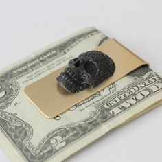 Moon Raven Designs by Money Clip Wallet, Money Clips, Man Of The House, Slim Wallet, Skull And Bones, Unique Jewelry, Men's Jewelry, Etsy Shop, Mens Fashion