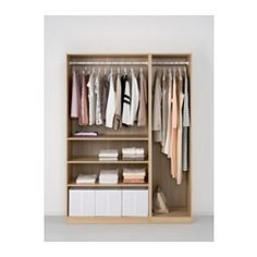 IKEA - PAX, Wardrobe, 150x58x201 cm, , 10-year Limited Warranty. Read about the terms in the Limited Warranty brochure.You can easily adapt this ready-made PAX/KOMPLEMENT combination to suit your needs and taste using the PAX planning tool.If you want to organize inside you can complement with interior organizers from the KOMPLEMENT series.Adjustable feet make it possible to compensate for any irregularities in the floor.