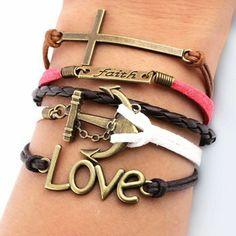 """Milan Bracelet """"Faith and Love"""""""