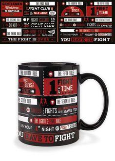 Fight Club Rules - Infographic - Ceramic Coffee Mug