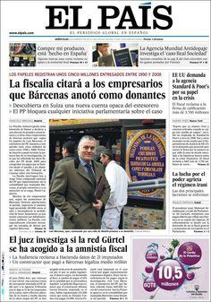 Los Titulares y Portadas de Noticias Destacadas Españolas del 6 de Febrero de 2013 del Diario El País ¿Que le parecio esta Portada de este Diario Español?