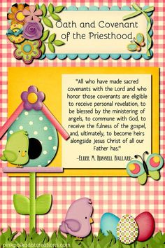 "April 2017 Visiting Teaching Handout It is time again for a new visiting teaching handout for The Church of Jesus Christ of Latter Day Saints! This month the lesson is titled, ""Oath and Covenant of the Priesthood"" I chose the quote from Elder M. Russell Ballard, about how we can all become heirs to all … Continue reading April 2017 Visiting Teaching Handout →"