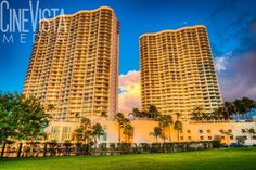 Oasis Towers - Fort Myers, FL by CineVistaMedia. This original photo is of the beautiful Oasis Towers in downtown Fort Myers, FL during one of our fabulous sunsets.