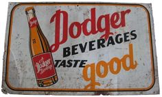 Dodger was another one of those short-lived wonders of the soda pop world. The company had Iowa ties in Dubuque and Des Moines (bottling). Dubuque Iowa, Soda Fountain, Ties, Nostalgia, Advertising, Packaging, Pop, Tie Dye Outfits, Popular