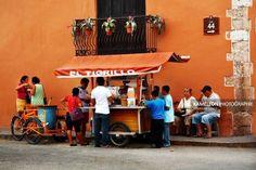Scène de vie dans les rues de Valladolid