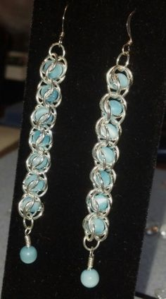 Chainmaille Earrings by UniqueDesignzByMel on Etsy, $16.00