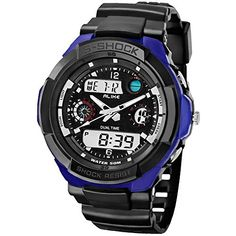 Ak1170 Alike Analogdigital Electronic Watch Fashion Sports Wristwatches 50m Waterproof Diving Watch Japan Quartz Movement blue >>> Read more reviews of the product by visiting the link on the image.Note:It is affiliate link to Amazon.