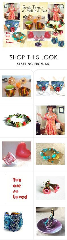 Great Team - We will Rock You by owlartshop on Polyvore featuring TintegrityT and EtsySpecialT