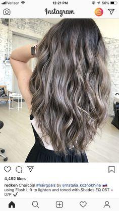 hair highlights sparkle – Welcome My World Brown And Silver Hair, Ashy Brown Hair, Ash Brown Balayage, Ashy Hair, Beige Hair, Ash Blonde Hair, Brunette Hair, Redken Hair Color, Hair Color Balayage