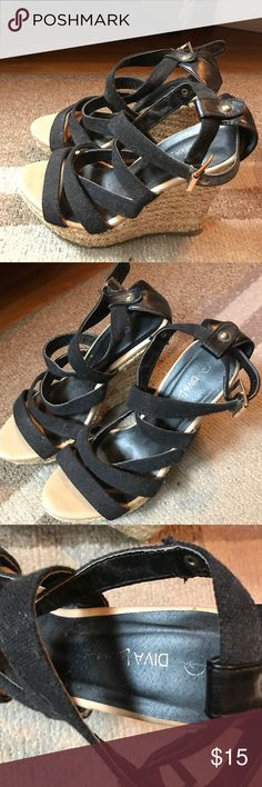 Black Size 8 Wedges Shoes bought from Forever 21 Black Size 8 Wedges Shoes bought from Forever 21 Forever 21 Shoes Wedges