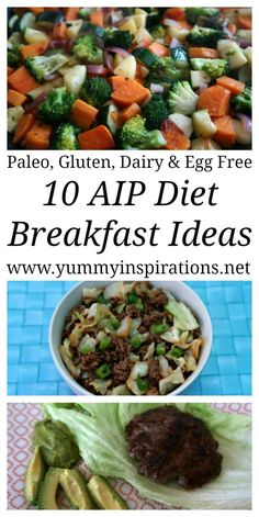 10 AIP Diet Breakfast Ideas – Quick & Easy recipes for breakfast on the elimination phase of Autoimmune Protocol Diet – Paleo, Nut Free, Dairy Free, Egg Free & Gluten Free Breakfasts. With the video. Dieta Aip, Paleo Breakfast, Breakfast Ideas, Breakfast Recipes, Paleo Recipes Easy, Real Food Recipes, Gf Recipes, Elimination Diet Recipes, Egg Diet Plan