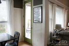 Painted Green Door - inside or outside. Homestead Resort Moss by Valspar