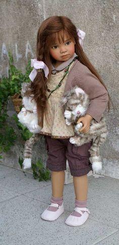 Angela Sutter. Doll artist.