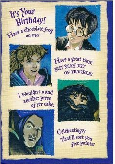 Harry Potter Birthday Card Crafty Things Pinterest