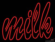 Double Stroke Milk Real Neon Glass Tube Neon Sign,Affordable and durable,Made in USA,if you want to get it ,please click the visit button or go to my website,you can get everything neon from us. based in CA USA, free shipping and 1 year warranty , 24/7 service