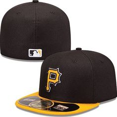 Pittsburgh Pirates New Era MLB Diamond Tech 5950 Fitted Hat (Black) Twenty  One Pilots 78b9ed8d167