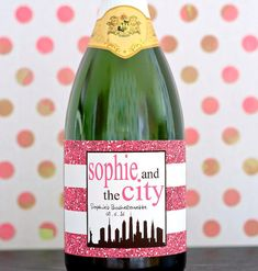 Sex and the City Champagne Bottle Label. NYC Bachelorette Party Bottle Stickers. New York City Party Favors.  Personalized Party Decorations