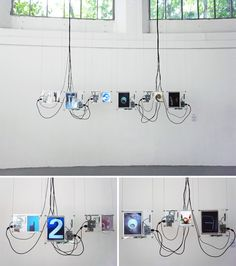 the 'exquisite clock' by brazilian designer joao wilbert uses photos of numbers found in everyday life and puts them together in a physical clock,  a website and a mobile application. the photos are uploaded by people from all over the world and are instantly displayed around