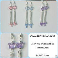 Pendientes-con-mariposas-de-cristal-acrilico-Long-dangle-butterfly-earrings