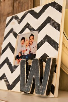 diy chevron frame