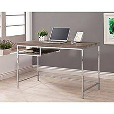 Coaster Furniture Weathered Grey Writing Desk