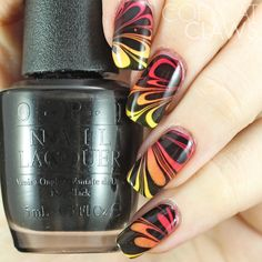 Copycat Claws: The Digit-al Dozen Does Patterns On Pattern: Day 5 Water Marble On Gradient Nails