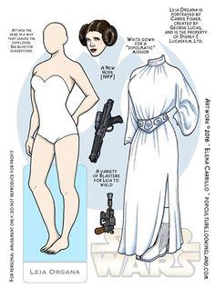 Star Wars Archives ~ Pop Culture Paper Dolls © Elena Carrillo