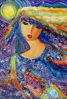 ✯ ✯ I Hear Her Gentle Song ✯ ✯ Art by Ronnie Biccard ✯ ✯ The Theme at this years Goddess Conference in Glastonbury is The GODDESS OF WATER