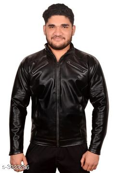 Jackets Trendy Men's PU Leather Jacket Fabric: PU Leather Sleeves: Full Sleeves Are Included Size:  M  L XLXXL  (Refer Size Chart) Length: Refer Size Chart Type: Stitched Description: It Has 1 Piece of Men's Jacket Pattern: Solid Country of Origin: India Sizes Available: XXS, XS, S, M, L, XL, XXL *Proof of Safe Delivery! Click to know on Safety Standards of Delivery Partners- https://ltl.sh/y_nZrAV3  Catalog Rating: ★3.9 (3194)  Catalog Name: Elegant Men's PU Leather Jackets Vol 4 CatalogID_459837 C70-SC1209 Code: 435-3323296-