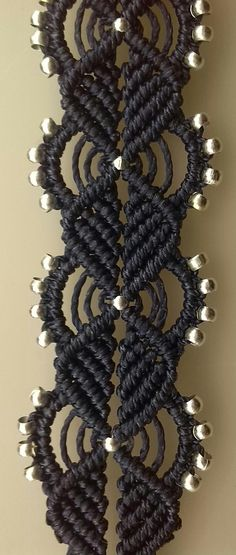 macrame in navy blue | the art of decorative knotting | Dev'Art60 | Flickr