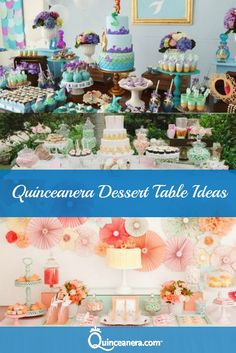 Whether you're having a big or a private Quinceanera celebration, it is now accustomed to have a gorgeously decorated dessert table!: http://www.quinceanera.com/food/quinceanera-dessert-table-ideas/