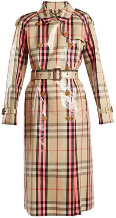 e002099d1aff Burberry Laminated cotton-blend gabardine trench coat Pink Trench Coat
