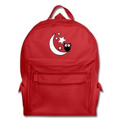 owl moon and star Backpack Normal fitBackpack, 50% Polyester/50% Recycled Polyester   Brand: Liberty Bags This carry-all chameleon is perfect for school or the office, the gym or a road trip. Stuff it with books and papers, files and a laptop, workout gear or a few outfits and hit the road running. The 50/50 polyester/recycled polyester blend makes this bag a kind choice for the environment too!