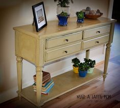 Painted Furniture Before and After | Need A Latte Mom: Versaille Chalk Paint Before and After #shabbychicfurniturebeforeandafter