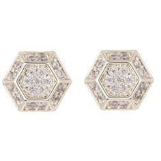Nordstrom Rack CZ Hexagon Stud Earrings (€12) ❤ liked on Polyvore featuring jewelry, earrings, nordstrom rack earrings, nordstrom rack jewelry, hexagon earrings, hexagon jewelry and cubic zirconia stud earrings