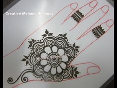 Simple Flower Arabic Henna Mehndi Design Tutorial - YouTube
