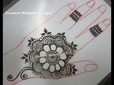Simple Flower Arabic Henna Mehndi Design Tutorial - YouTube