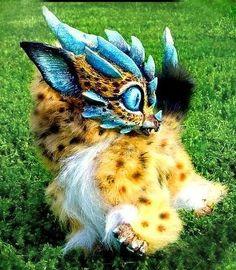 SOLD-Posable Cheetah  Dragon by Wood-Splitter-Lee.deviantart.com on @deviantART