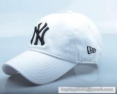 New Era MLB New York Yankees Baseball Cap Breathable Cap Curved visor Hat Classic Retro White