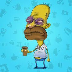 Homer Before Coffee (or beer)