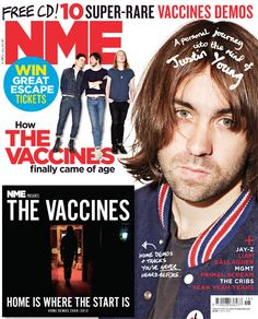 NME Magazine cover, The Vaccines, May 4th 2013 Nme Magazine, Jay Z, Coming Of Age, Cover, Movie Posters, Age Of Majority, Film Poster, Billboard, Film Posters