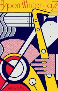 Aspen Jazz Poster 1967 by Roy Lichtenstein - Serigraph Poster