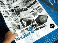 This is a really cool mailable portfolio. #portfolio #design