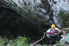 Sótano de Huahuas, San Luis Potosí México, 200 metros de rapel