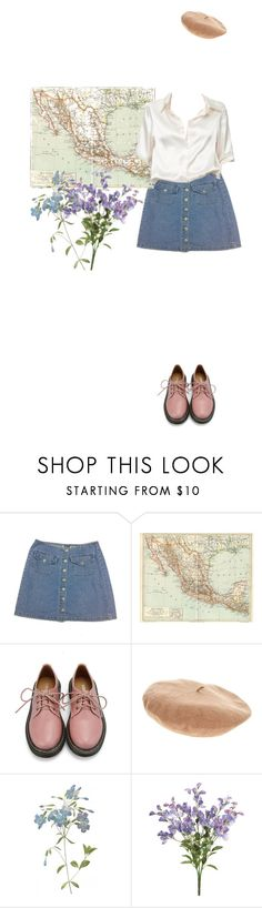 """""""at my funeral don't lie"""" by naturalblue ❤ liked on Polyvore featuring Retrò, Brandy Melville, Betmar, 90s, pastel, alternative and chicflats"""